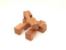 головоломка детали деревянная стоковые изображения