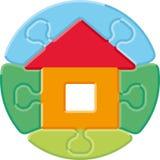 головоломка дома малая Стоковые Изображения RF