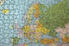 головоломка европы Стоковое фото RF