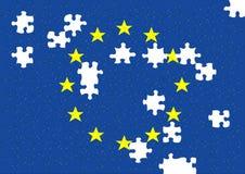 головоломка евро Стоковые Изображения