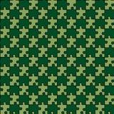 головоломка зеленого цвета пущи смешанная безшовная иллюстрация вектора