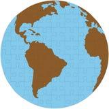 головоломка зигзага глобуса земли Стоковое Фото