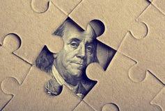 Головоломка зигзага с Франклин Стоковое Изображение