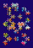 головоломка зигзага Стоковые Изображения RF