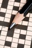 головоломка карандаша кроссворда Стоковые Фотографии RF