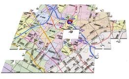 головоломка карты Стоковая Фотография