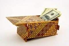 головоломка коробки спрятанная наличными деньгами Стоковые Изображения