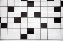 головоломка кроссворда стоковое изображение rf