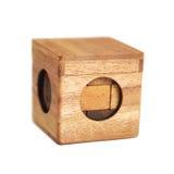 головоломка кубика деревянная Стоковая Фотография