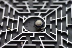головоломка лабиринта Стоковое Фото
