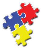 головоломка логоса 2 компаний Стоковое Изображение