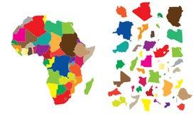 головоломка материка Африки иллюстрация штока