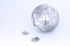 головоломка металла глобуса Стоковые Фотографии RF