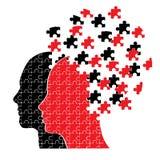 головоломка пар головная Стоковое Изображение RF