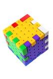 головоломка пластмассы кубика Стоковые Фотографии RF