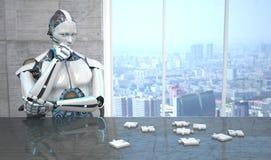 Головоломка робота иллюстрация вектора