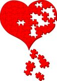 головоломка сердца Стоковая Фотография RF
