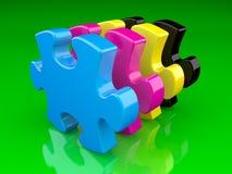 головоломка цвета cmyk Стоковая Фотография RF