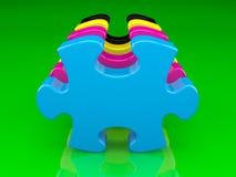 головоломка цвета cmyk Стоковое фото RF