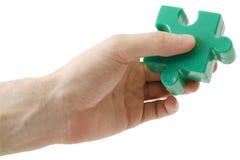 головоломка части руки Стоковые Изображения RF