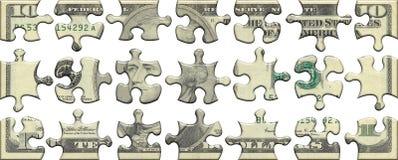 головоломка 10 США доллара Стоковые Фото