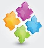 головоломка 3D Стоковое Фото