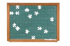 головоломка chalkboard зеленая Стоковое фото RF