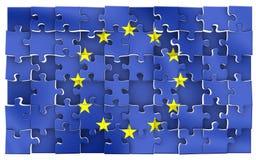 головоломка eu Стоковое Изображение