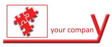 головоломка y логоса законцовки компании иллюстрация штока