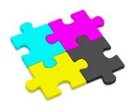 головоломки цвета cmyk Стоковое Изображение