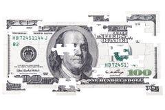 Головоломки 100 долларов Стоковое фото RF