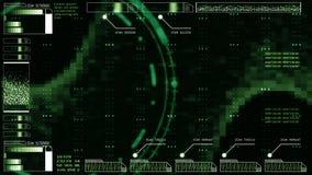 головы интерфейса предпосылки Высок-техника дисплей цифровой абстрактной поднимающий вверх голографический бесплатная иллюстрация