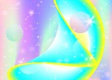 Голографическая предпосылка с живыми градиентами радуги Динамическая жидкость Hologram космоса иллюстрация вектора