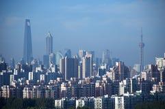 Голодает отсутствующий взгляд CBD Шанхая Стоковое Изображение RF