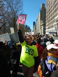 Голосование, регистр к голосованию, NYC -го марту на наши жизни, NY, США стоковое фото