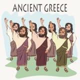 Голосование руки древнегреческого мультфильма бесплатная иллюстрация