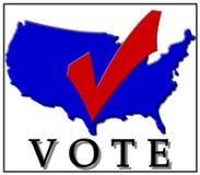 голосовать контрольной пометки Стоковое Изображение