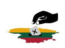голосовать Литвы избрания иллюстрация штока