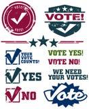 голосовать штемпелей Стоковые Изображения RF