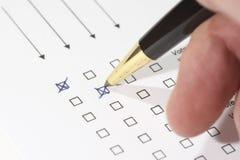 голосовать Стоковое Изображение RF