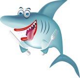 голодная акула Стоковые Изображения