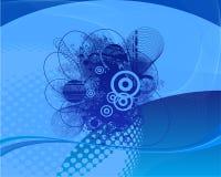 Голубая абстрактная предпосылка вектора Стоковые Изображения