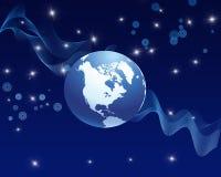 Голубая абстрактная предпосылка глобуса Стоковая Фотография