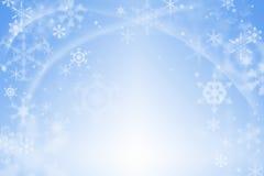 Голубая абстрактная предпосылка зимы Стоковая Фотография