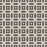 Голубая абстрактная предпосылка с перекрывая кругами Мотив лепестков Безшовная картина с классическим геометрическим орнаментом иллюстрация штока