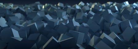 Голубая абстрактная предпосылка технологии коробки Стоковые Изображения