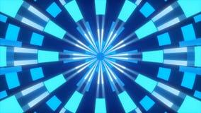 Голубая абстрактная предпосылка, формы движения, калейдоскоп, петля бесплатная иллюстрация