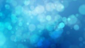 голубая абстрактная абстрактная предпосылка 4K с bokeh нерезкости и световым эффектом