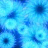 Голубая абстрактная флористическая предпосылка Стоковое Фото