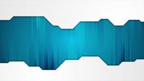 Голубая анимация видео абстрактной технологии видеоматериал